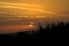 African Sunset Royalty Free Stock Images