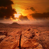 African sunset. Sunset in Atlas mountains, Morocco Royalty Free Stock Photos