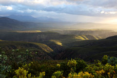 African Sunset Baviaans Mountains Royalty Free Stock Image