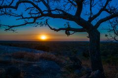 African sunset. This African sunset is captured by me. Great moment and amazing advdnture Stock Image