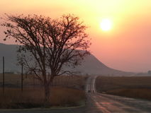 African Sunset. Sunset in the Overberg region, South Africa royalty free stock photography