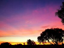 African sunset, photographed in South Africa