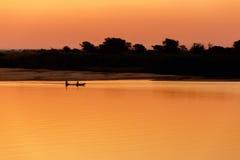 African sunset on Zambezi Royalty Free Stock Images