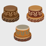 African symbols reels, three vector icons Stock Photo