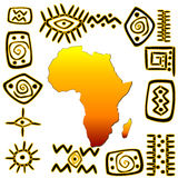 African symbols set Royalty Free Stock Photography