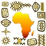 African symbols set Royalty Free Stock Photography