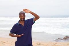 African tai chi man Royalty Free Stock Image