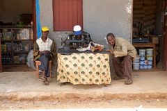 African tailor Royalty Free Stock Images
