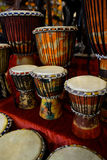 African tambourines Stock Images