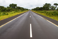 African tar road Stock Photos
