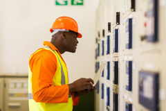 African technical worker Stock Photo