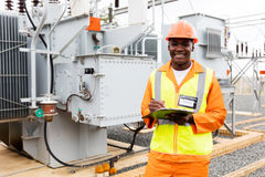 African technical worker Stock Images