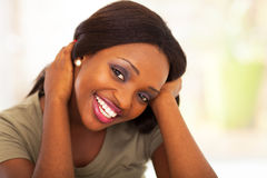 African teen girl royalty free stock photo
