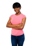 African teen posing with crossed arms Royalty Free Stock Photo