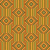 Ethnic seamless pattern. Cloth Kente. African textile fabric, cloth kente. Ethnic seamless pattern royalty free illustration