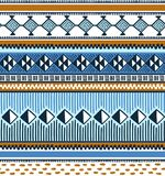 African textile. Vector seamless pattern with geometry. Stock Images