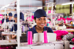 African textile worker Royalty Free Stock Photography