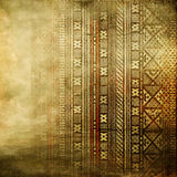 African Texture In Golden Colors Royalty Free Stock Photography