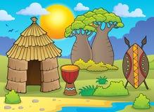 African thematics image 2 stock illustration