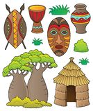 African thematics set 1. Eps10 vector illustration vector illustration