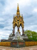 African themed sculptures at the Albert Memorial. In London, UK, at Kensington Gardens, in memory of Prince Albert. Albert Memorial in London`s Hyde Park stock photography