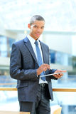 African thoughtful young businessman Stock Photography