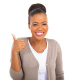 African thumb up Royalty Free Stock Photography