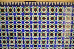 African tiled wall stock photo
