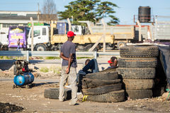 African tires business Stock Photo