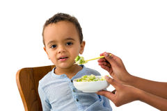 African toddler refusing to eat royalty free stock image