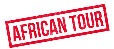 African Tour rubber stamp. Grunge design with dust scratches. Effects can be easily removed for a clean, crisp look. Color is easily changed Stock Images