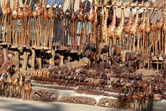 African tourist market in Namibia In Africa Stock Photography