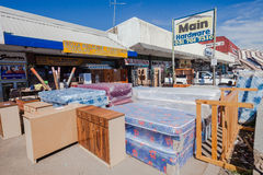 African Street Furniture Stores Royalty Free Stock Photography