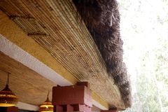 Free African Traditional Ethnic House Vegetal Ceiling Royalty Free Stock Images - 13509489