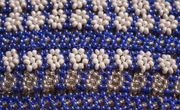 African traditional handmade colorful bead pattern ornament. Stock Photos