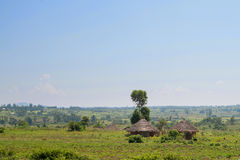 African traditional huts in Kenya Royalty Free Stock Image