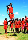 African traditional jumps stock photo