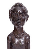 African traditional man bust statuette Stock Photography