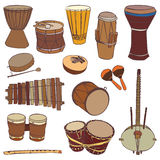 African traditional musical instruments Stock Images