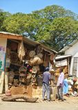 African traditional shop Royalty Free Stock Image