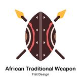 African Traditional Weapon Flat Icon royalty free illustration