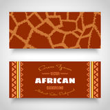 African Tribal Art Banners Royalty Free Stock Photo