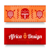 African Tribal Art Banners Stock Photos