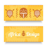 African Tribal Art Banners Stock Image