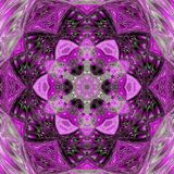 African-tribal-art circle violet floral mandala. Tribal-art circle violet floral mandala Royalty Free Stock Photography