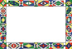 African-tribal-art pattern's frame. Of different colors Royalty Free Stock Images