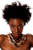 African Tribal beauty face stock photos