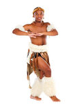 African tribal dancer Royalty Free Stock Images