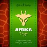 African Tribal Ethnic Art Background Stock Image