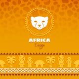 African Tribal Ethnic Art Background Stock Photo